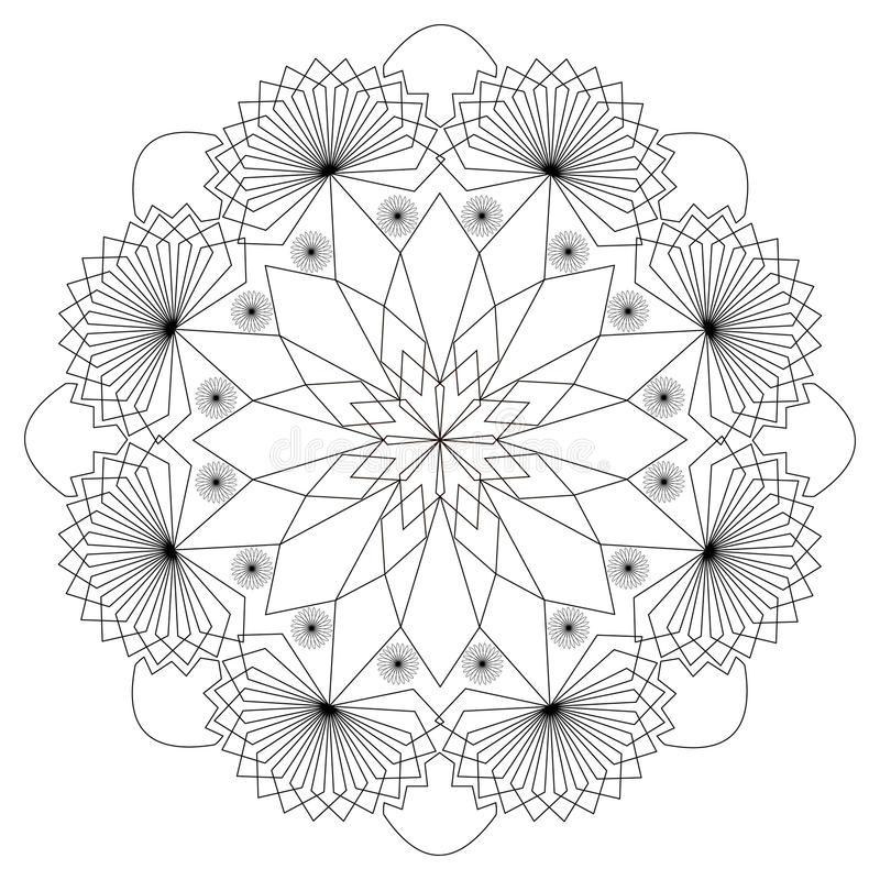 Patterns In Black And White. Page For Coloring Book Stock