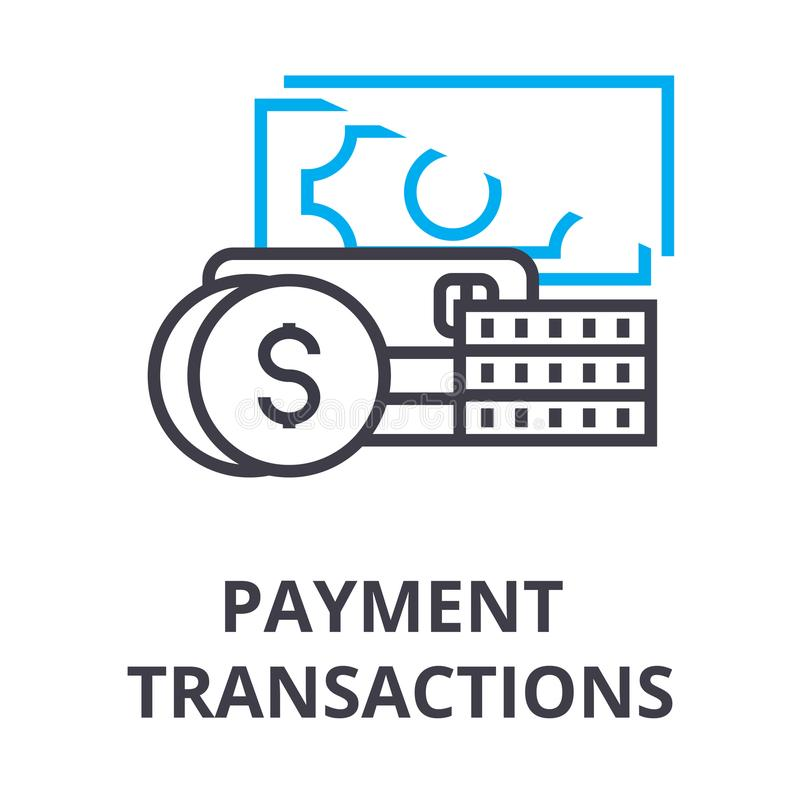 ATM Transactions Vector Thin Line Stroke Icon. ATM