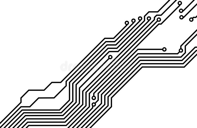 How To Draw A Vector Illustration Of A Circuit Board Photo In Adobe