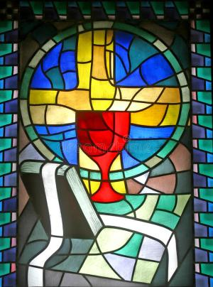 confession penance stained glass church window dreamstime royalty