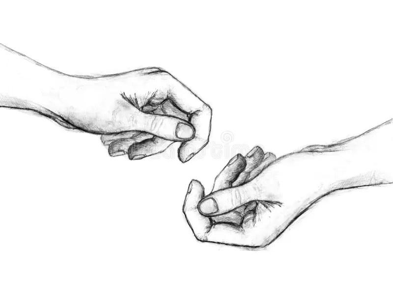 Drawn Finger Contour Drawing