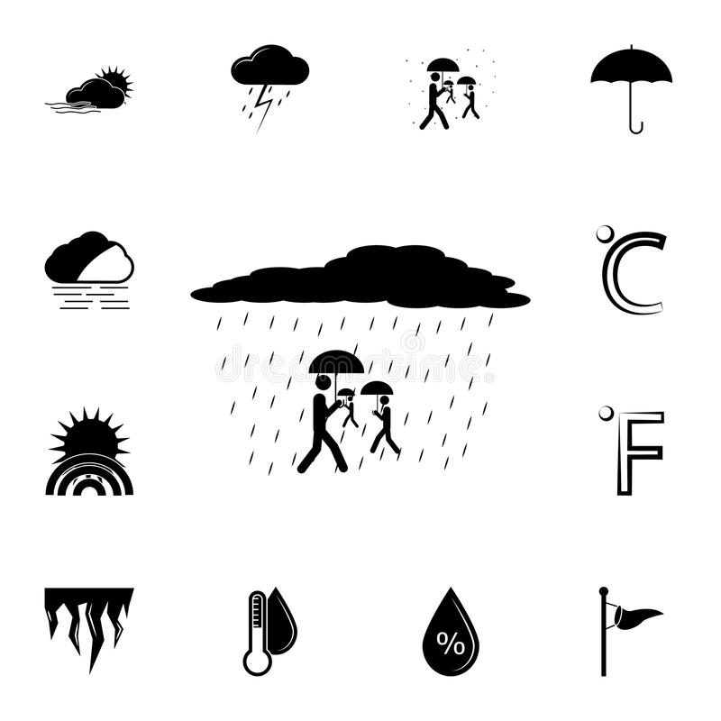 Weather And Disaster Vector Icons Set Vector Illustration