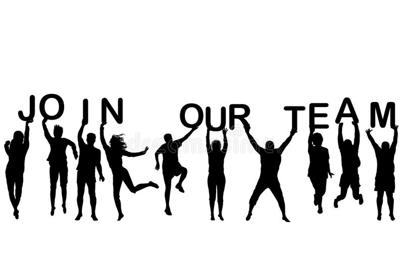 People Silhouettes Of Different Ages Holding The Letters