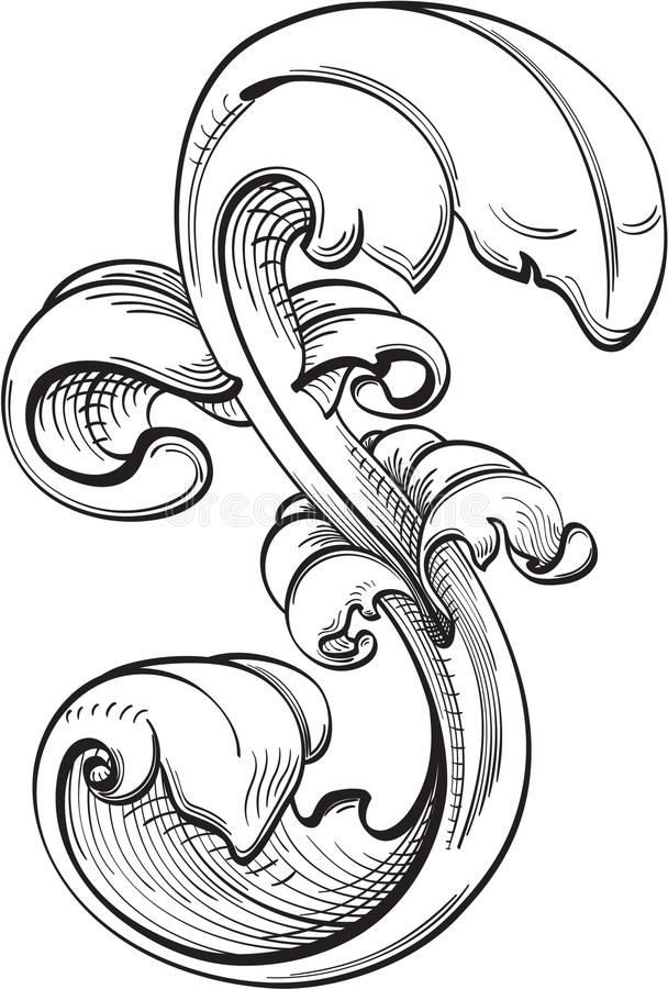Perfect acanthus leaf stock vector. Illustration of