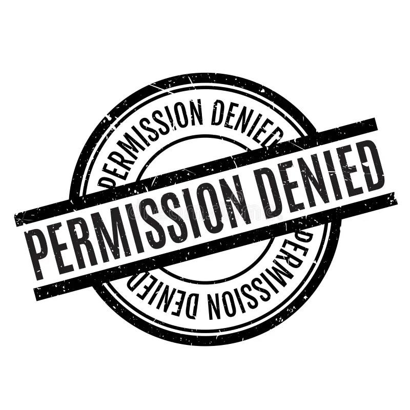 Permission Denied Rubber Stamp Stock Illustration