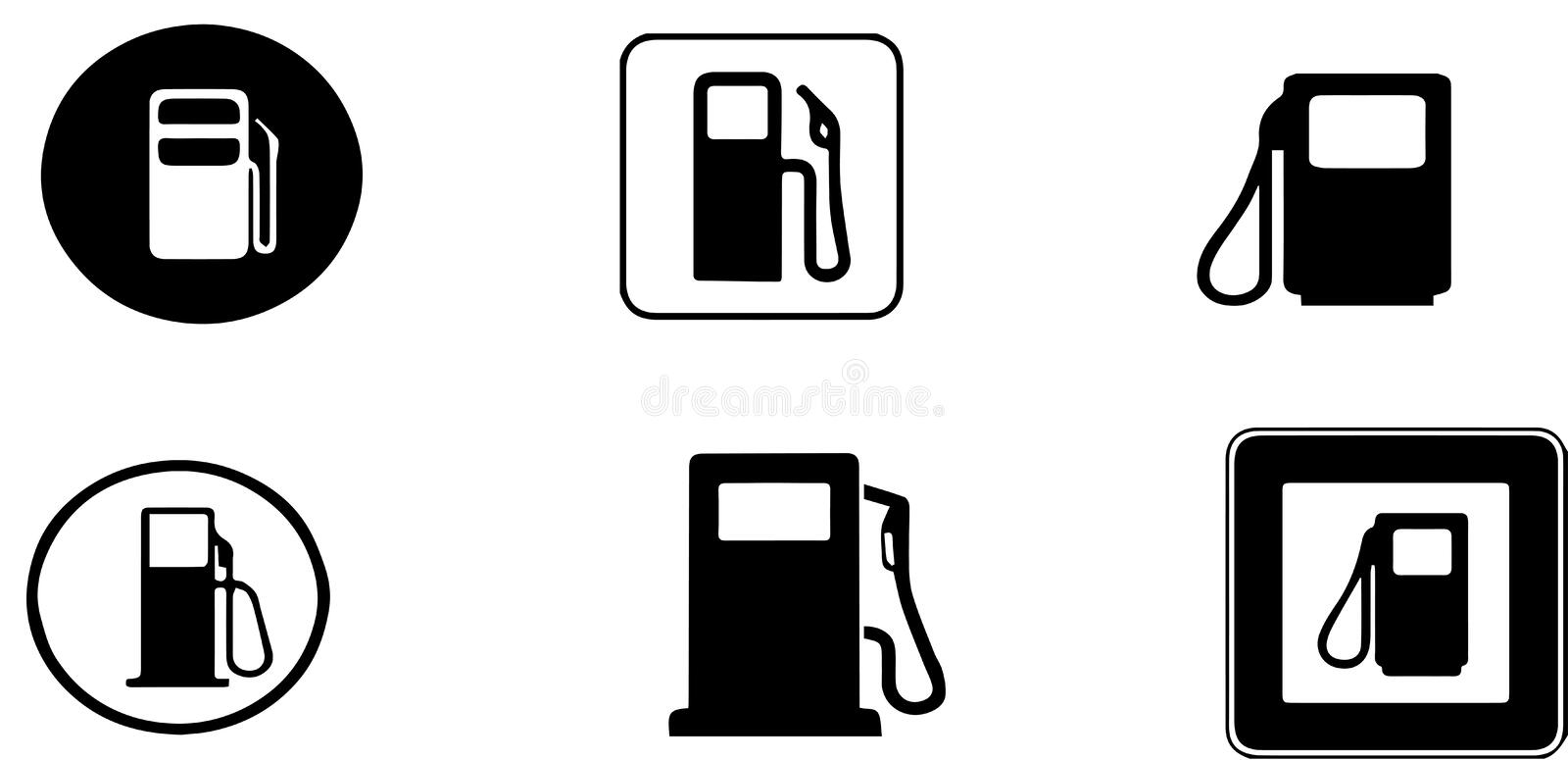 Fuel Refill Stand Icon, Flat Style Stock Vector