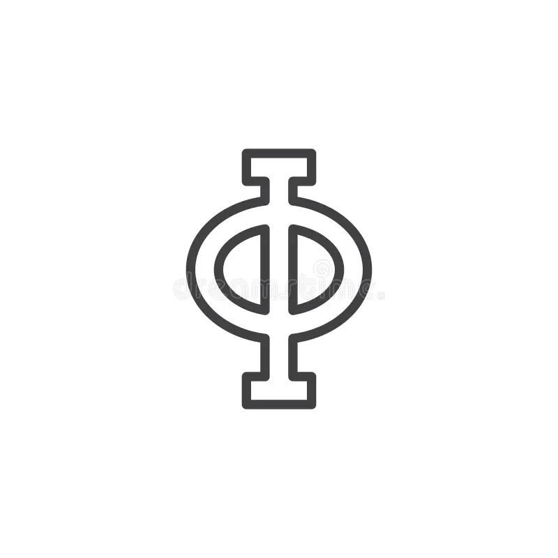 Phi symbol stock illustration. Illustration of illustrate