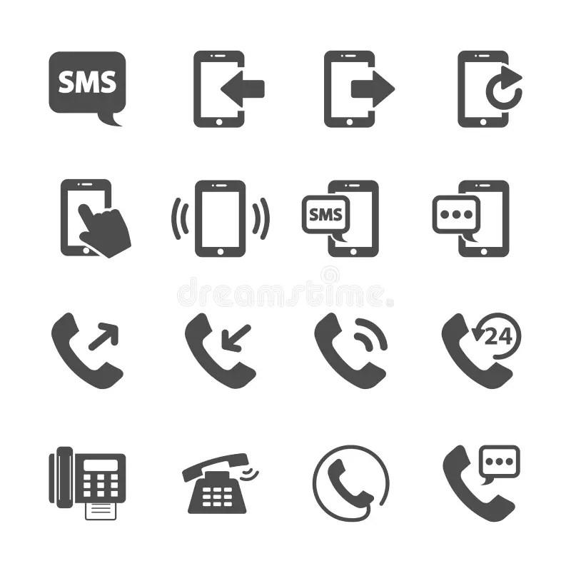 Phone Device Communication Icon Set, Vector Eps10 Stock