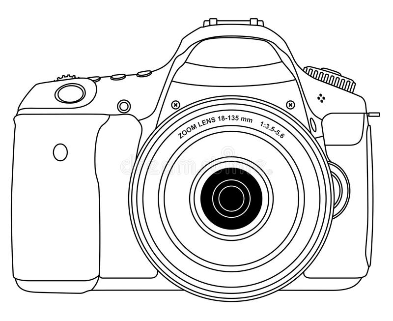 Photo camera stock vector. Illustration of snap, glass