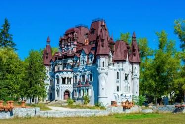 castle fantasy fantasia castello altezza molte torri towers hight many foresta rovina vecchia nella tale fotografia