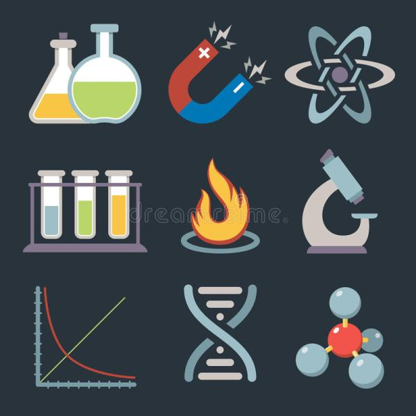 Physics Science Icons Stock Vector. Of Graph