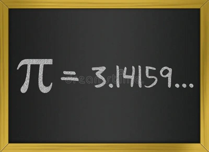 Pi Number On A Blackboard Stock Illustration Illustration