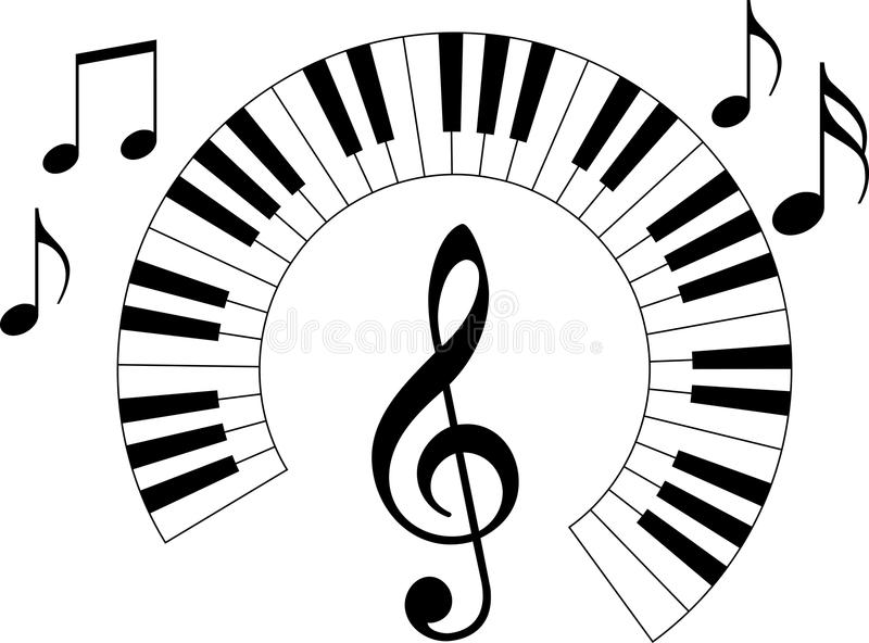 Piano keyboard stock vector. Illustration of melody
