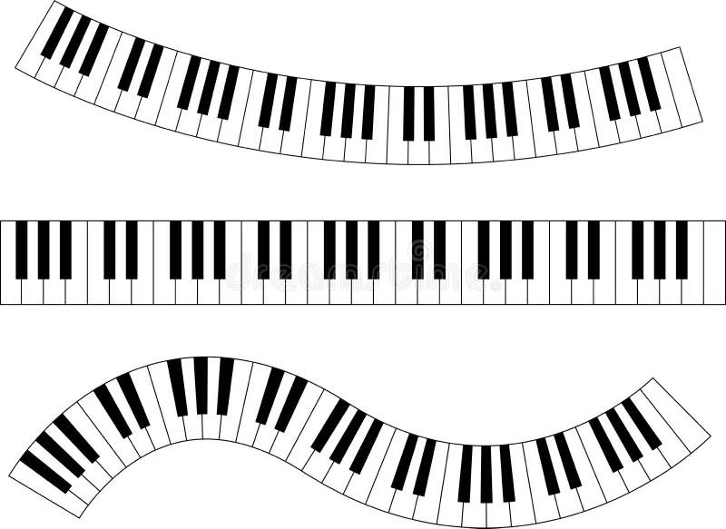 Piano Keyboard Stock Vector. Illustration Of Keyboard