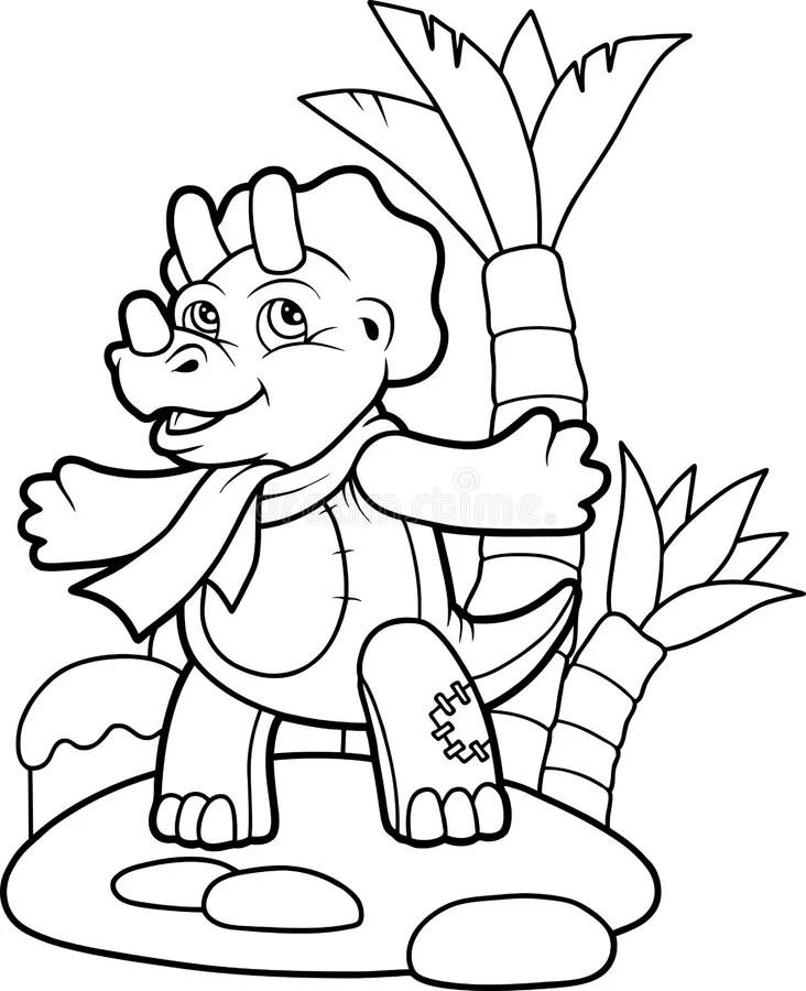 Piccolo Triceratopo Del Giocattolo Illustrazione
