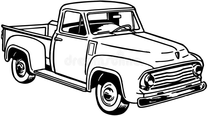 Pickup Truck 2 stock vector. Illustration of clipart