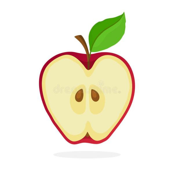 piece of red apple cut