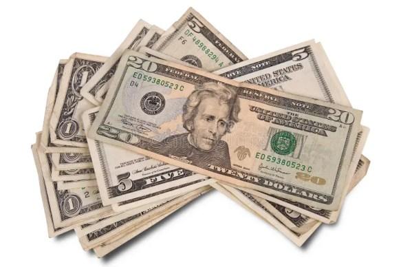 Pile of money stock photo. Image of dollar, business ...