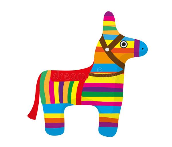 pinata icon flat style. donkey