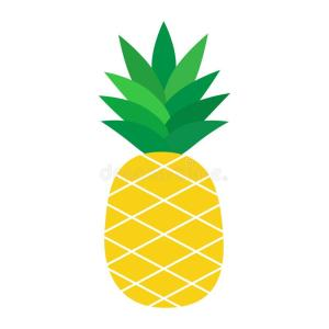 pineapple fruit cartoon tropical vector illustration clipart background graphic icon yellow illustrations dreamstime isolated clip drawing outline romy faded remix