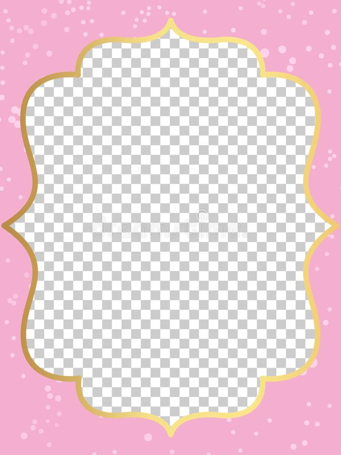 pink vector template of invitation card