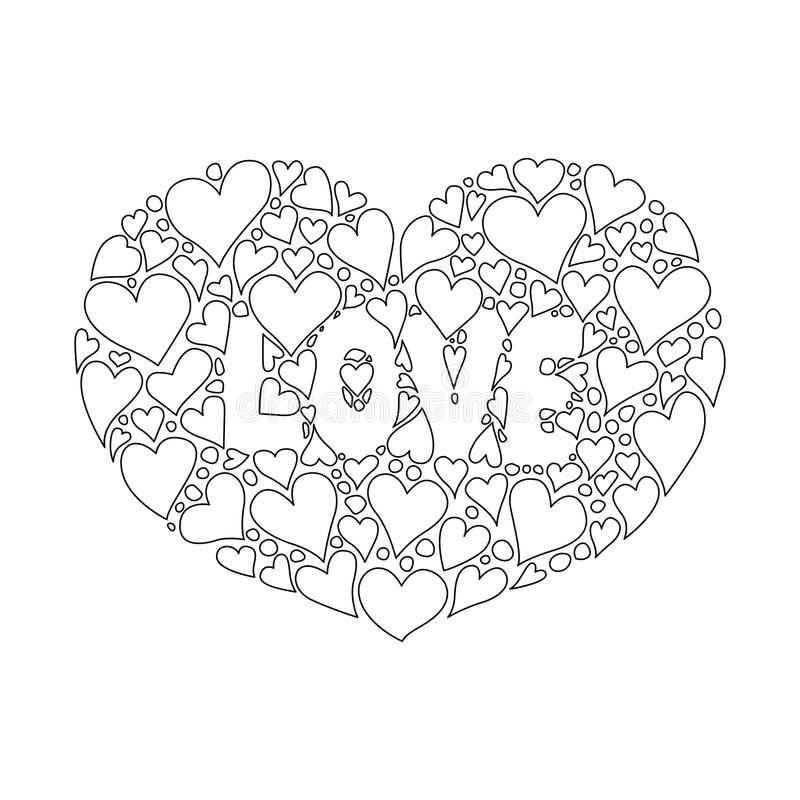 I love you background stock vector. Illustration of