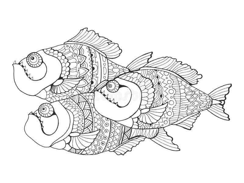 Piranha Tattoo Stock Illustrations