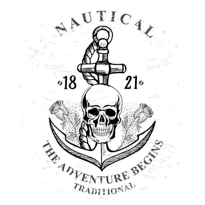 Pinup Pirate Nautical Anchor Tattoo Auto Electrical