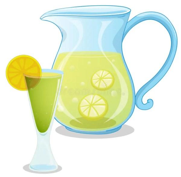 pitcher of lemonade stock illustration