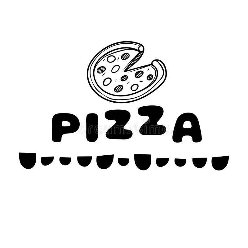 Pizza Box Cover Pattern Seamless Black Stock Vector