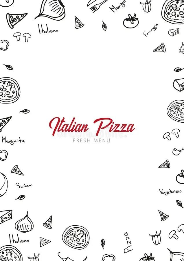 Pizza Menu Template Vector Illustration Stock Vector