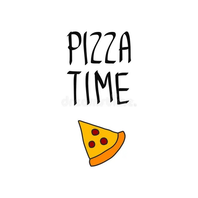 Pizza Cartoon Style Menu Template Stock Vector