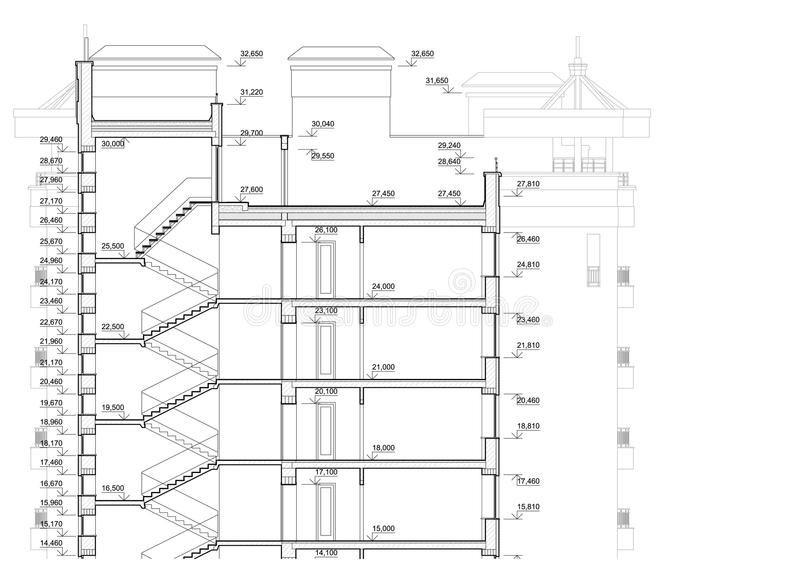 Plan Architectural Détaillé Du Bâtiment à Plusiers étages