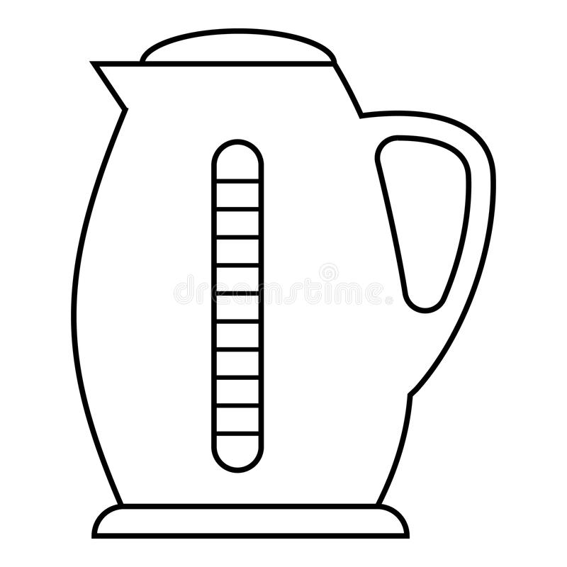 Plastic Electric Kettle Icon, Outline Style Stock Vector