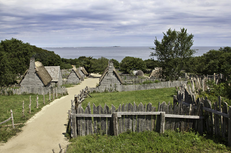 Plimoth Plantation At Plymouth. MA Stock Photo - Image of settlement. thanksgiving: 32216968