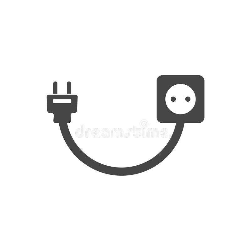 Plug Socket And Cord, Wire, Socket And Electric Plug Stock