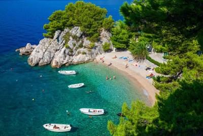 Podrace beach in Brela stock image. Image of europe ...