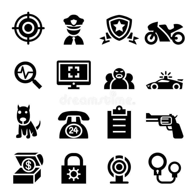 Police & Security Guard Icon Stock Illustration