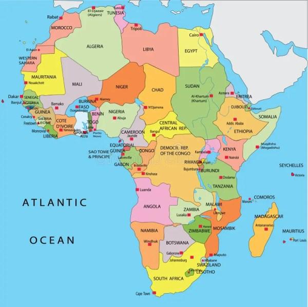 Political map of Africa stock illustration Illustration