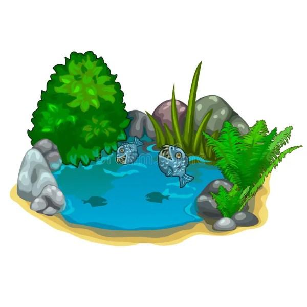 pond with predatory piranhas plants