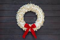 Popcorn wreath stock image. Image of holiday, decoration ...