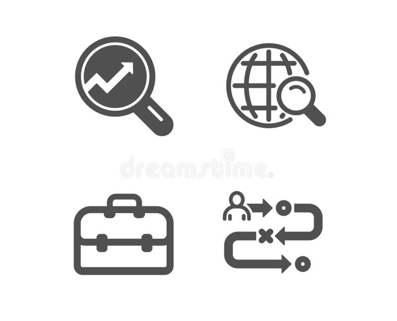 Journey Path, Certificate And Loyalty Program Icons Set