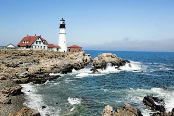 Portland Headlight Lighthouse, Maine Stock Image - Image of ...