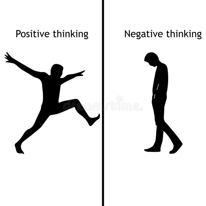 Positive And Negative Thinking. Stock Vector