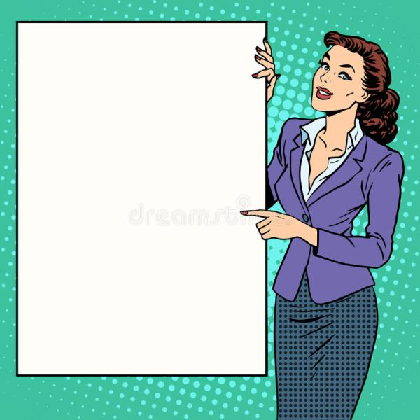 Poster Businesswoman Style Brand Stock Vector