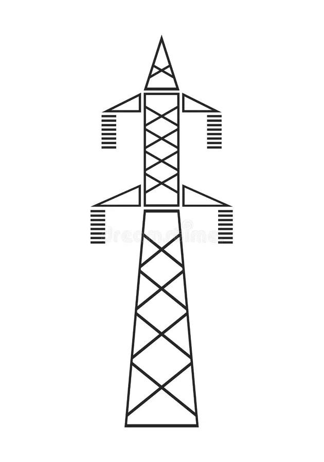 Power Transmission Line stock illustration. Illustration