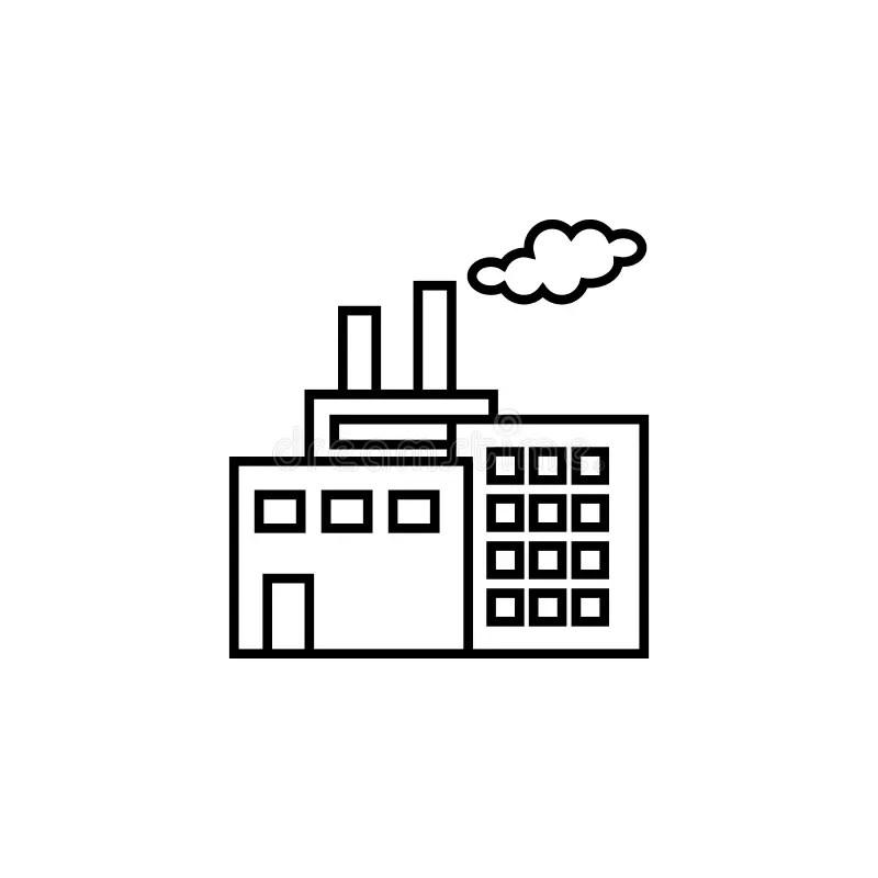 Power Plant Line Icon. Elements Of Energy Illustration