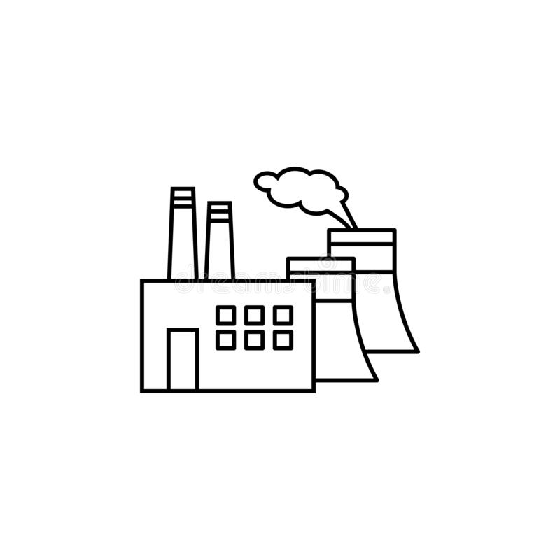 Power Plant Line Icon. Elements Of Energy Illustration