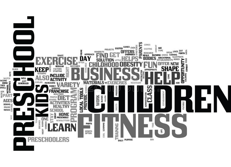 Fitness For Kids Word Cloud Concept Stock Vector