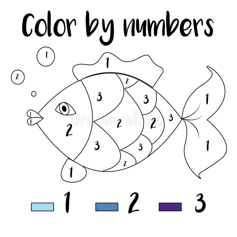 Coloring Page. Color By Numbers Educational Children Game